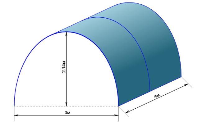 расчет дуги для теплицы калькулятор